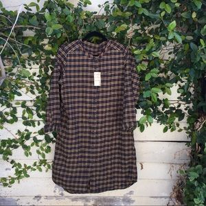 Muji flannel dress.